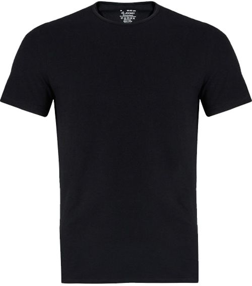 Jockey - Men`s - 3D Innovations 8 Way Stretch - Fitted Round Neck - S M L XL - Style 8187 - Black