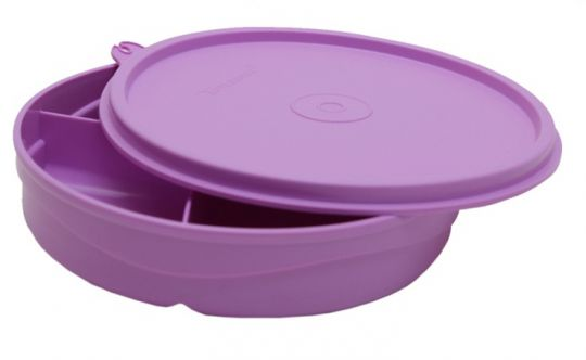 Tupperware Kids Divided Lunch Plate - Lunch Box Specially For Kids - Violet